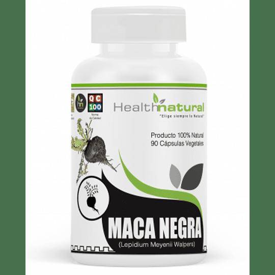 Maca negra 90 cápsulas, suplemento, Health Natural