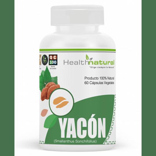 Yacon 60 cápsulas, suplemento, Health Natural
