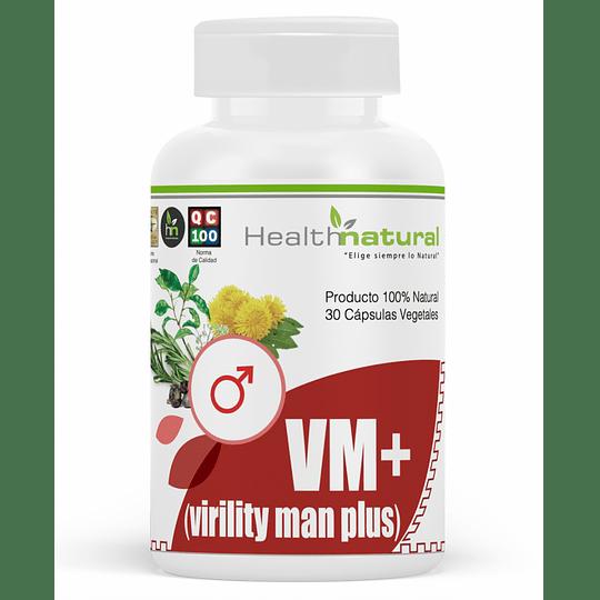 VM+ viriliti man, 30 cápsulas, suplemento, Health Natural