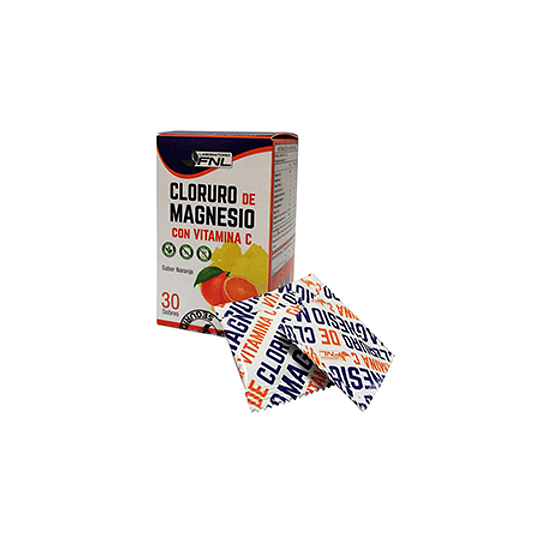 Cloruro De Magnesio Con Vitamina C 30 Sobres