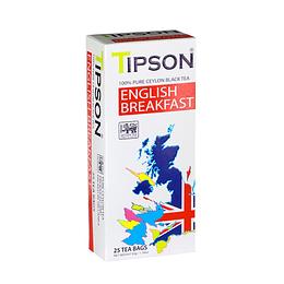 Tipson Té English Breakfast, Té Negro Ceylon 25 Bolsitas