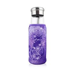 Botella con infusor 550ml - Gato Morada