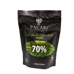 Cobertura de Chocolate Orgánico 70% Cacao 200 grs, Pacari - OFERTA