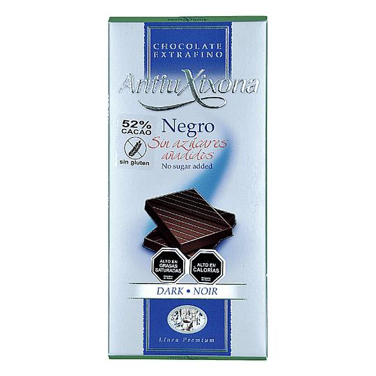 Chocolate Antiu Xixona, 52% Cacao, 100g, Sin Azúcares Añadidos, Sin Gluten