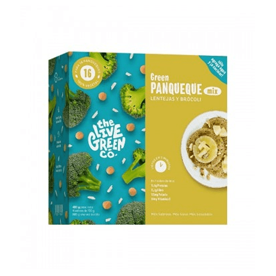 Mix para Panqueques Vegetales, Lentejas y Brócoli, Green Pancakes