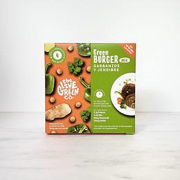 Mix para Hamburguesas Vegetales, Garbanzos y Jengibre, Green Burger