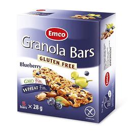 Barras de cereal Arándano sin gluten 5uds. EMCO Granola Bars
