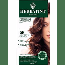 5R Castaño Claro Cobrizo - Tintura De Pelo Sin Amoniaco con Aloe Vera Herbatint
