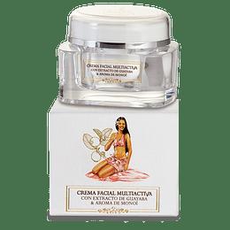 Crema Facial Multiactiva con extractos de guayaba y de algas nutritiva, humectante y anti-age ANAKENA