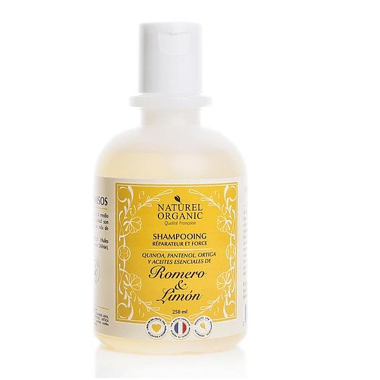 Shampoo Romero & Limón 250 ml, Caída del Cabello - Naturel Organic