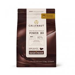 Chocolate amargo 80% bolsa 2.5 kilogramo Marca Callebaut