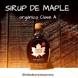 Maple Syrup, Sirup De Maple Orgánico 250ml