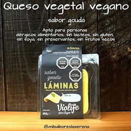 Queso Gouda 100% vegetal laminado a base de aceite de coco