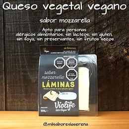 Queso Mozzarella 100% vegetal laminado a base de aceite de coco
