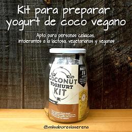 Kit Para Preparar Yogurt De Coco Vegano
