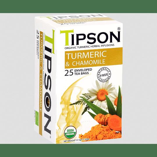 Turmeric, Cúrcuma Manzanilla 25 bolsitas - Tipson