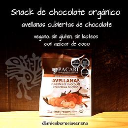 Snack Avellanas Cubiertas De Chocolate Con Azúcar De Coco 60g