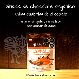 Uvillas Cubiertas De Chocolate Con Azúcar De Coco