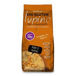 Pre-mezcla Muffin Lupino Zanahoria Canela 300g Terrium