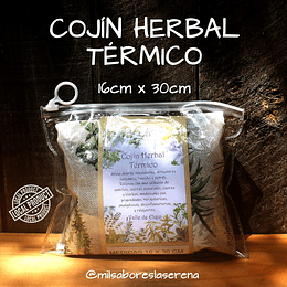Cojín Herbal Térmico 16cm x 30cm, almohada