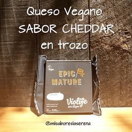 Queso Vegano en trozo Epic Mature Sabor Cheddar 200g VIOLIFE