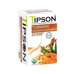 Turmeric,  curcuma y limon, 25 bolsitas, Tipson