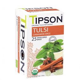 Tulsi con Especias de Canela, 25 bolsitas, Tipson