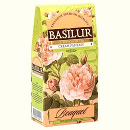 Cream Fantasy 100gr a granel (té verde, fresas, crema), Basilur