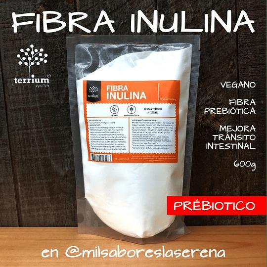Inulina Fibra 600g, Terrium, Fibra Prebiótica