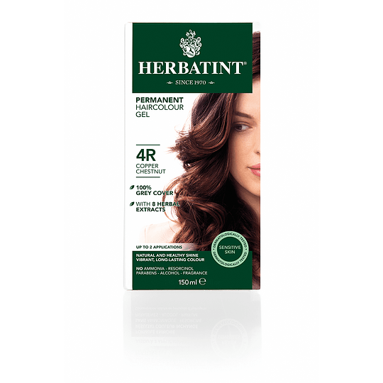 4R Castaño Cobrizo - Tintura De Pelo Sin Amoniaco con Aloe Vera Herbatint