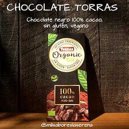 Chocolate Dark Organic Bio 100% cacao 100g, Torras