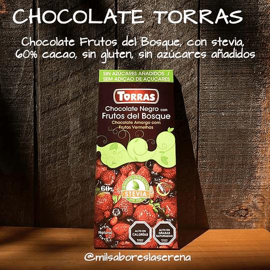 CHOCOLATE NEGRO CON FRUTOS DEL BOSQUE, 125g, Torras