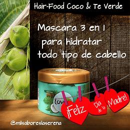 Mascara 3 en 1 Coco y Te Verde 390ml - Lovea