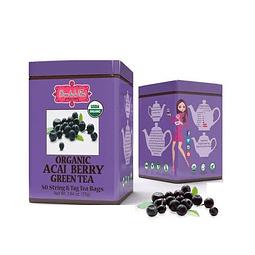 Té verde con acai berry, Brew lala Tea, 75gr, 50 bolsitas