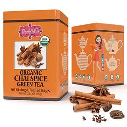 Té verde con Chai Spice, Brew lala Tea, 75gr, 50 bolsitas