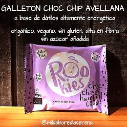 Galletón Rookies chispas de chocolate y avellana 40g, Sin Gluten, Vegano