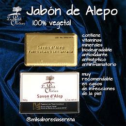 Jabon de Alepo,  100% vegetal, 150g, Le Petit Olivier