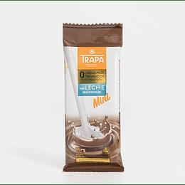 Mini chocolate con leche 0% azúcares añadidos Trapa