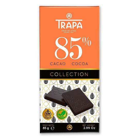 Chocolate Vegano 85% Cacao, 85g Trapa
