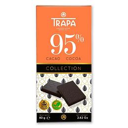 Chocolate Vegano 95% Cacao, 80g Trapa