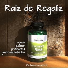 Raíz de Regaliz (Licorice Root),  100 Cápsulas