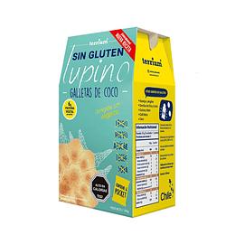 Caja de Galletas de Lupino veganas, Coco 6 Pockets