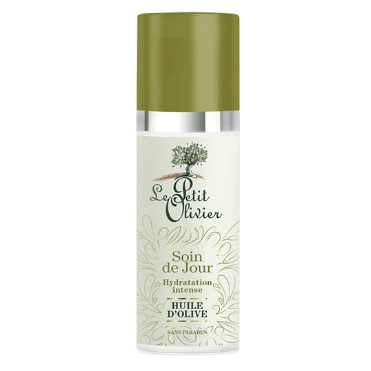 Crema para el rostro hidratante Oliva, Aloe Vera y Vitamina E, cuidado de Día - Le Petit Olivier