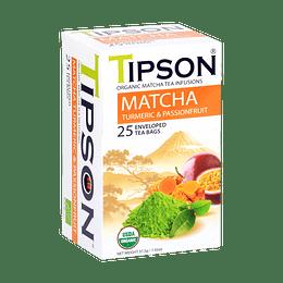 Té Matcha Cúrcuma y Maracuyá 25 bolsitas. Turmeric & Passionfruit