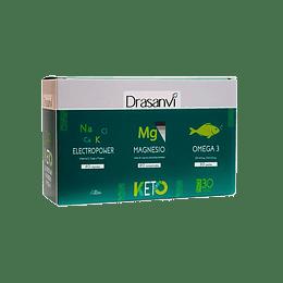 Pack Keto suplementos, Magnesio, Omega 3 y Electropower - Drasanvi