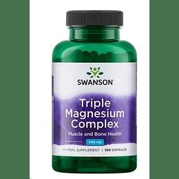 Triple Magnesio Complex 100 cápsulas Swanson