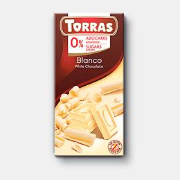 Chocolate Blanco sin azúcar, sin gluten - Torras
