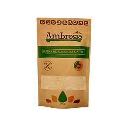 Harina De Almendras Sin Piel Ambrosia, certificada Sin Gluten, 500g
