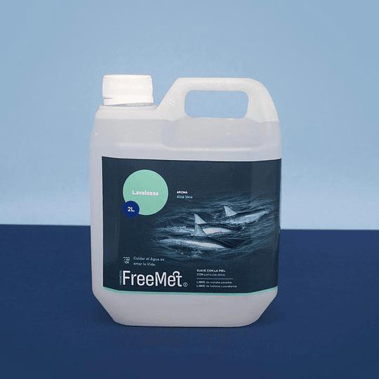 Lavalozas Biodegradable, Aloe Vera, Recarga 2 Litro FreeMet