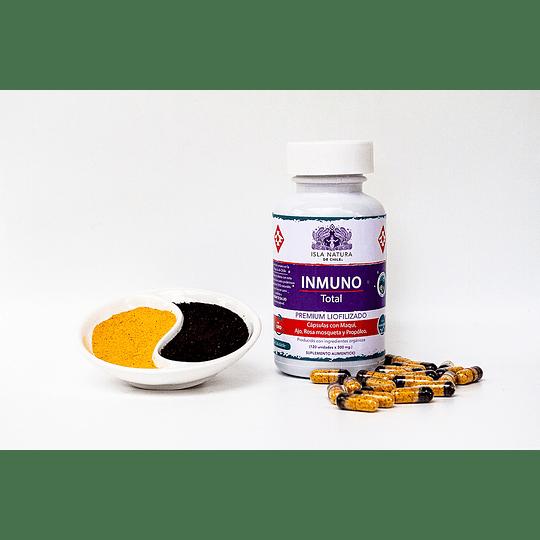 Inmuno Total 120 cápsulas x 600mg Maqui, Rosa Mosqueta, Ajo Chilote y Propóleo